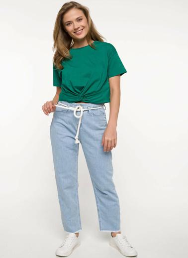 DeFacto Kısa Kollu T-shirt Yeşil